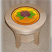 Для дома и интерьера ручной работы. Ярмарка Мастеров - ручная работа Круглый журнальный столик с подсветкой Чайная Роза. Handmade.