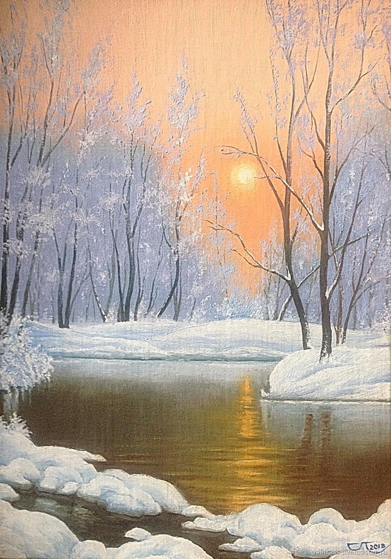 Картинки с пейзажем зимы нефедова, фото