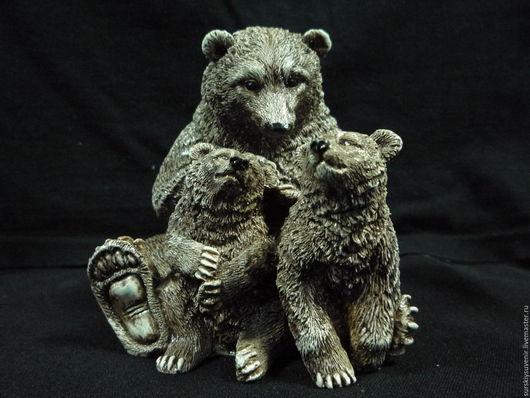 Персональные подарки ручной работы. Ярмарка Мастеров - ручная работа. Купить Медведица с медвежатами. Handmade. Коричневый, материнская любовь