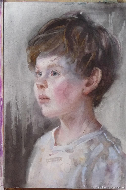 Портрет сына. Акварель, Картины, Санкт-Петербург, Фото №1
