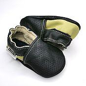 Одежда детская handmade. Livemaster - original item Perforated Leather Infant Shoes, Genuine Leather Shoes. Handmade.