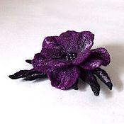 """Украшения ручной работы. Ярмарка Мастеров - ручная работа Брошь """"Фиолетовый цветок"""". Handmade."""