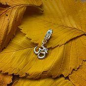 Украшения handmade. Livemaster - original item Om charm made of silver, a sacred symbol, yoga. Handmade.