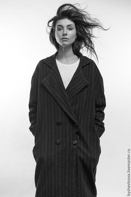Верхняя одежда ручной работы. Ярмарка Мастеров - ручная работа. Купить пальто  027 №3. Handmade. Темно-серый