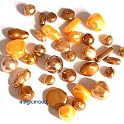 Материалы для творчества handmade. Livemaster - original item 20 gr Mix 131 Gold 320 Czech Preciosa beads. Handmade.