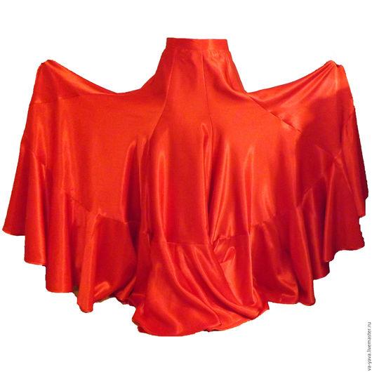 Танцевальные костюмы ручной работы. Ярмарка Мастеров - ручная работа. Купить Юбка для Фламенко. Handmade. Ярко-красный, юбка в пол