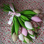 Цветы ручной работы. Ярмарка Мастеров - ручная работа Текстильные тюльпанчики. Handmade.