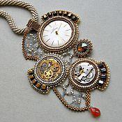 """Украшения ручной работы. Ярмарка Мастеров - ручная работа Колье """"The old clock"""". Handmade."""