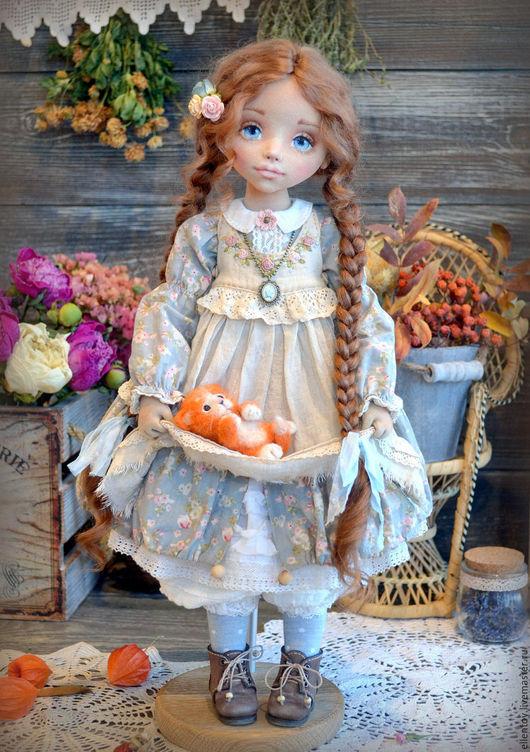 Коллекционные куклы ручной работы. Ярмарка Мастеров - ручная работа. Купить Маруся и ее Рыжее Счастье, текстильная коллекционная авторская кукла. Handmade.