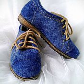 """Обувь ручной работы. Ярмарка Мастеров - ручная работа Туфли валяные женские демисезонные """"Шерстяной деним"""". Handmade."""