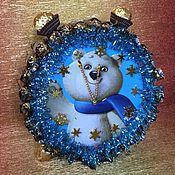Подарки к праздникам ручной работы. Ярмарка Мастеров - ручная работа Новогодние часы. Handmade.