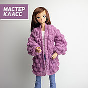 Материалы для творчества handmade. Livemaster - original item Master class on knitting a cardigan for Smart Dolls and 1/3 BJD. Handmade.