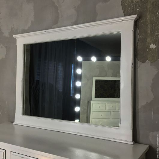 Зеркала ручной работы. Ярмарка Мастеров - ручная работа. Купить Зеркало WHITE HOUSE. Handmade. Чёрно-белый, зеркало застаренное