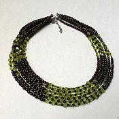 Украшения handmade. Livemaster - original item Garnet, peridot and spinel necklace. Handmade.