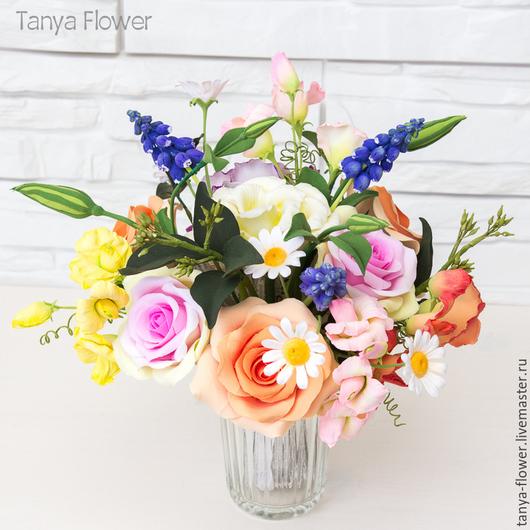 Букеты ручной работы. Ярмарка Мастеров - ручная работа. Купить Весенний букет цветов. Handmade. Tanya flower, весенний букет