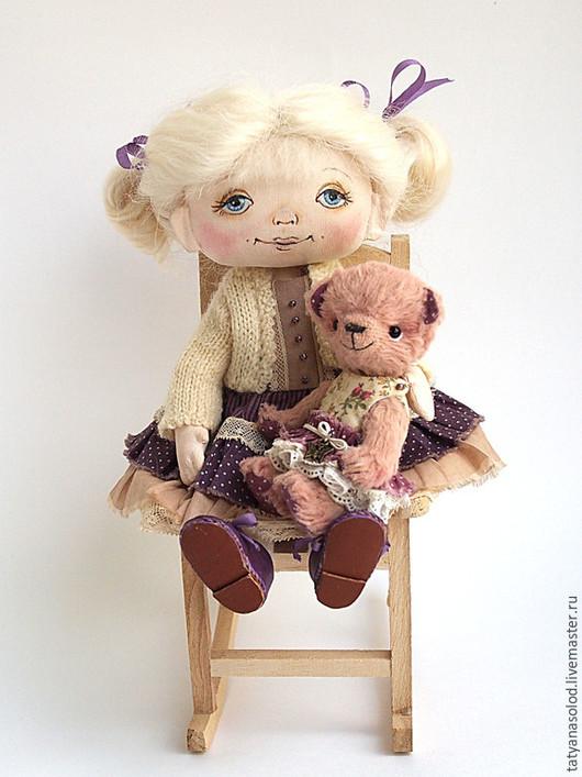 Коллекционные куклы ручной работы. Ярмарка Мастеров - ручная работа. Купить Кукла Кнопочка. Ваше маленькое чудо.. Handmade. Фиолетовый