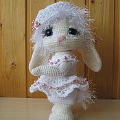 Мягкие игрушки ручной работы. Ярмарка Мастеров - ручная работа Игрушки: Белая-белая зайка. Handmade.