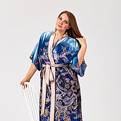 Одежда ручной работы. Ярмарка Мастеров - ручная работа Халат Кимоно 1356-090. Handmade.