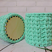 Для дома и интерьера handmade. Livemaster - original item Basket with wood bottom. Handmade.