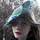"""Шляпы ручной работы. Шляпка"""" Иоанна"""". Марина Духан. Интернет-магазин Ярмарка Мастеров. Шляпка с вуалью, стилизованная вечеринка"""