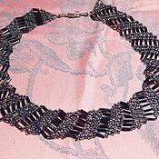 Украшения handmade. Livemaster - original item Necklace of beads and beads is Dark silver. Handmade.