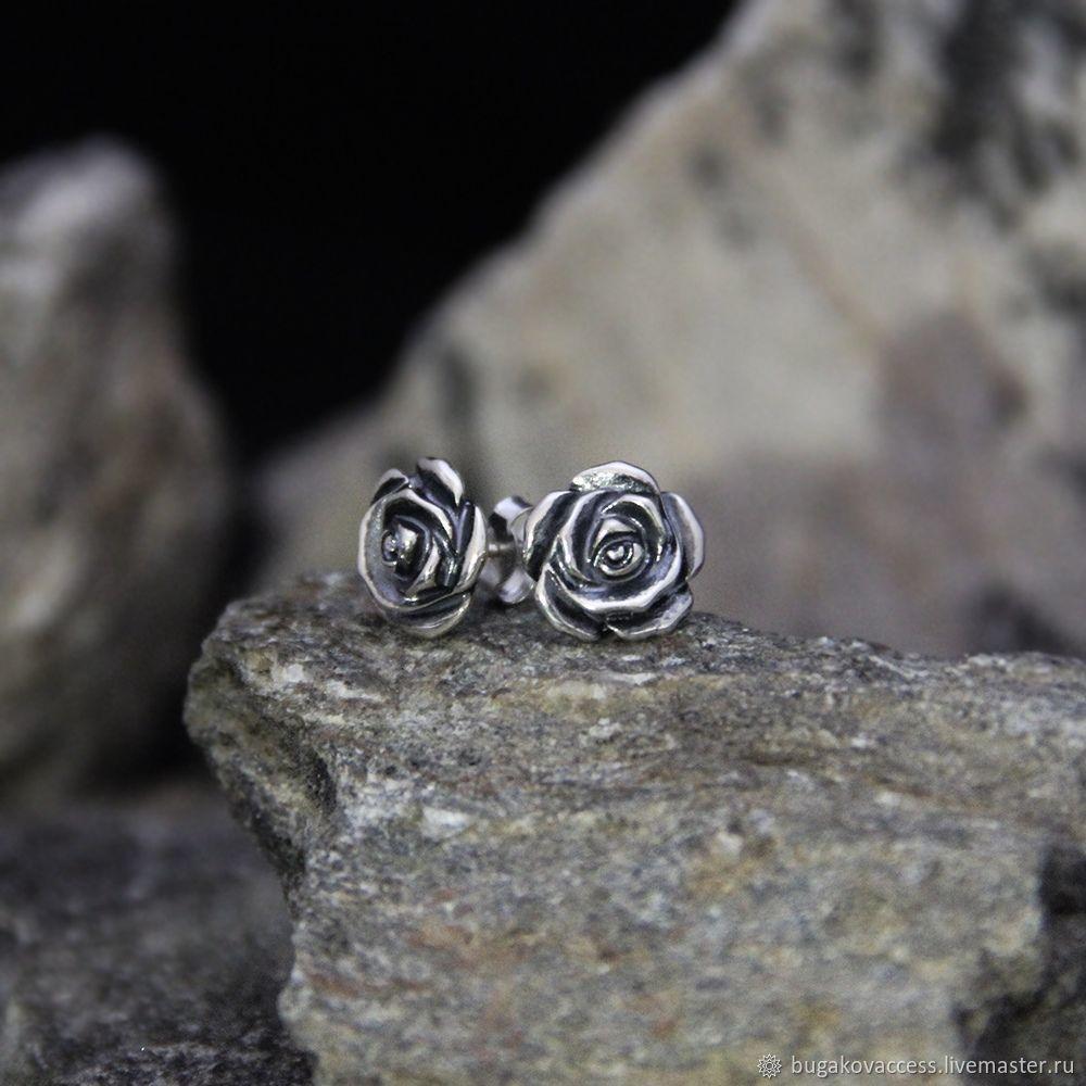 Earrings made of 925 silver, Stud earrings, Moscow,  Фото №1