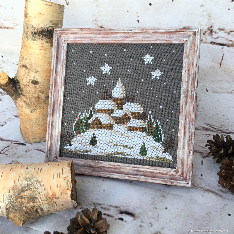 "Вышитая картина ""Зима"", Картины, Санкт-Петербург, Фото №1"