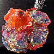 Украшения handmade. Livemaster - original item Goldfish pendant lampwork.. Handmade.