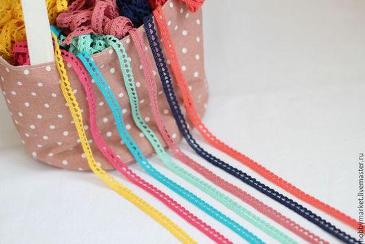 Шитье ручной работы. Ярмарка Мастеров - ручная работа. Купить Кружево хлопковое Волна 1 см ( разноцветное). Handmade.