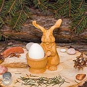 Сибирский Кедр Кролик Пасхальный Ручная работа Резьба по дереву #K2