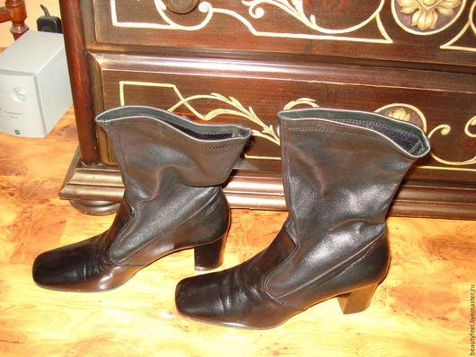 Винтажная обувь. Ярмарка Мастеров - ручная работа. Купить сапоги короткие из перчаточной кожи Италия ручная работа. Handmade. для фотосессий