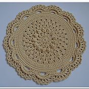 Для дома и интерьера handmade. Livemaster - original item Rug round bedside knit Elegant baby. Handmade.