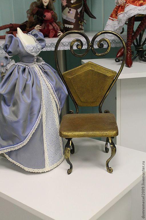 Кукольный дом ручной работы. Ярмарка Мастеров - ручная работа. Купить Кованый  кукольный  стул. Handmade. Ковка, кукла, подарок