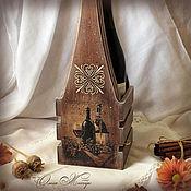 Для дома и интерьера handmade. Livemaster - original item Box for wine