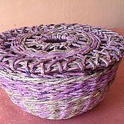 Для дома и интерьера ручной работы. Ярмарка Мастеров - ручная работа Уютная шкатулка для клубка. Handmade.