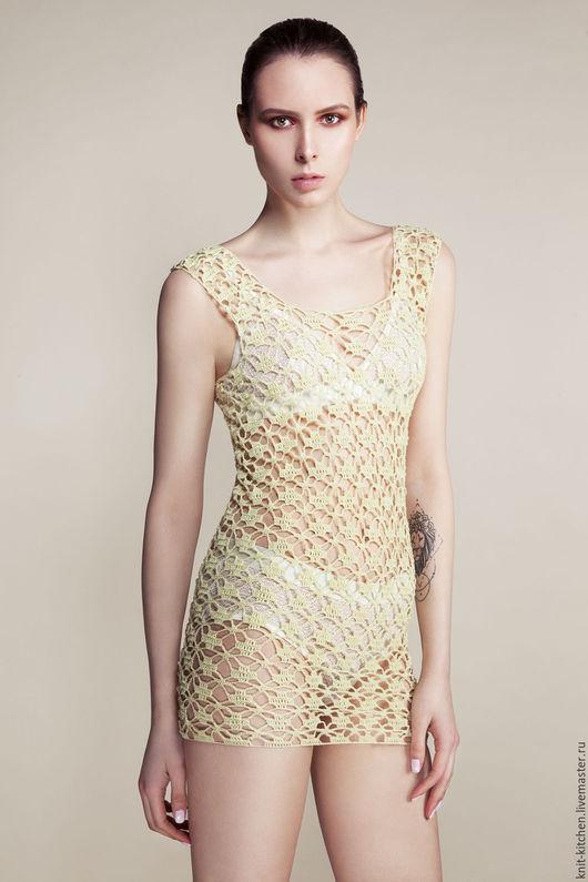 Платье-туника Lemon Knitting kitchen `Golubka`