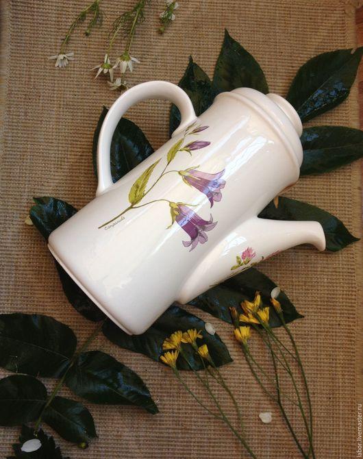 Винтажная посуда. Ярмарка Мастеров - ручная работа. Купить Английский чайник Royal Worcester. Handmade. Белый, винтажный, винтажная посуда
