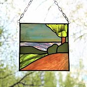 Для дома и интерьера handmade. Livemaster - original item Stained glass panels. shore. Sea. Handmade.
