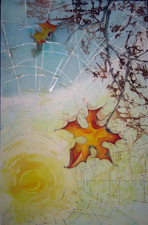 Фантазийные сюжеты ручной работы. Ярмарка Мастеров - ручная работа. Купить Осень.. Handmade. Осень, лист, солнце, паутина, ветка