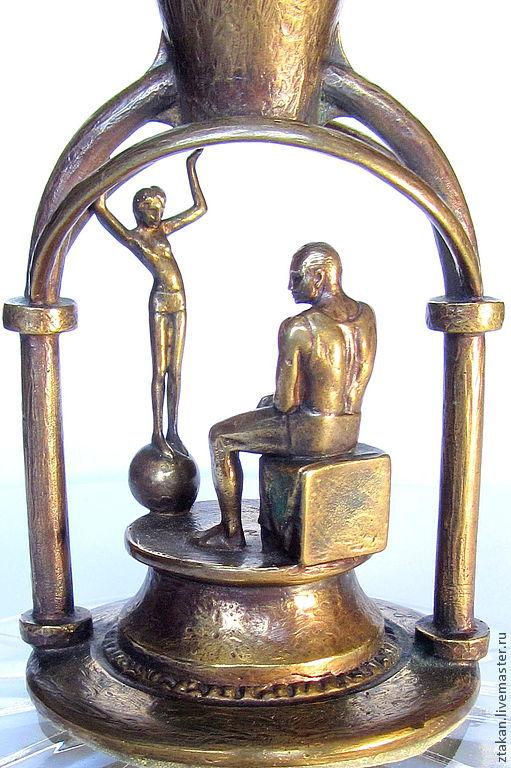 """Вазы ручной работы. Ярмарка Мастеров - ручная работа. Купить """"ПИКАССО"""". Хрустальный вазон на бронзовой вставке. Handmade. Ваза, бронза"""