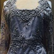 Одежда ручной работы. Ярмарка Мастеров - ручная работа Платье   в темном цвете Fantastiсa из кружева. Handmade.
