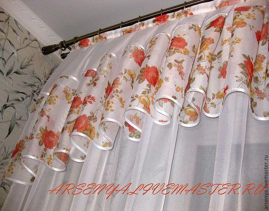 Текстиль, ковры ручной работы. Ярмарка Мастеров - ручная работа. Купить Шторы для кухни Поцелуй солнца. Handmade. Шторы на заказ