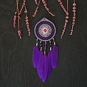 Для дома и интерьера handmade. Livemaster - original item Purple Dream Catcher Little Dream Catcher. Handmade.