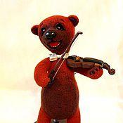 Куклы и игрушки ручной работы. Ярмарка Мастеров - ручная работа Медведь музыкант. Handmade.