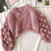 Одежда handmade. Livemaster - original item Sweater women`s powder. Handmade.