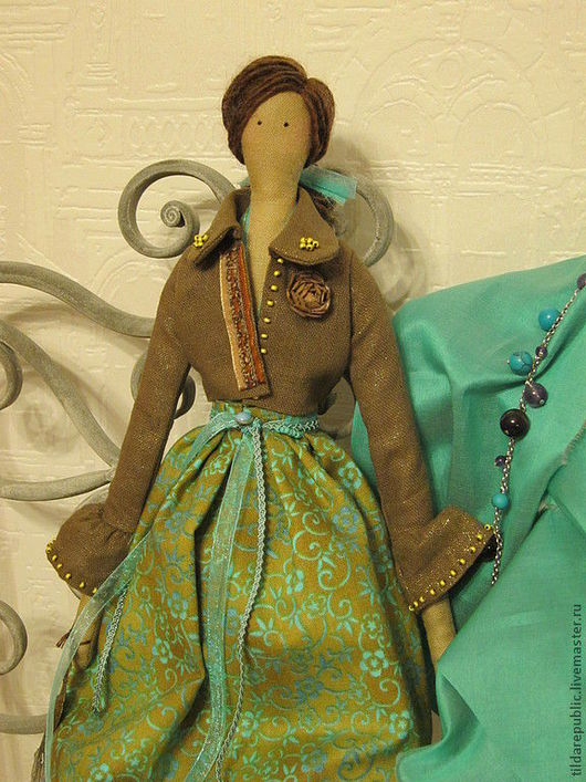 """Куклы Тильды ручной работы. Ярмарка Мастеров - ручная работа. Купить Тильда """"Бирюза и молочный шоколад"""" (для Елены). Handmade."""