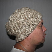 Аксессуары handmade. Livemaster - original item Hat made of hemp and sheep`s wool.. Handmade.