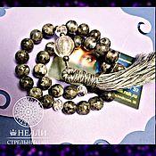Фен-шуй и эзотерика handmade. Livemaster - original item Rosary labradorite, 33 beads with a brush