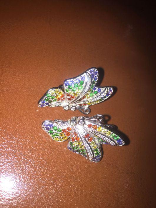"""Серьги ручной работы. Ярмарка Мастеров - ручная работа. Купить Серьги """"Бабочки"""". Handmade. Хризолит"""
