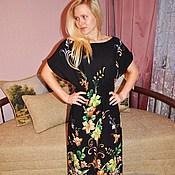 Одежда ручной работы. Ярмарка Мастеров - ручная работа Летнее платье с лилиями. Handmade.